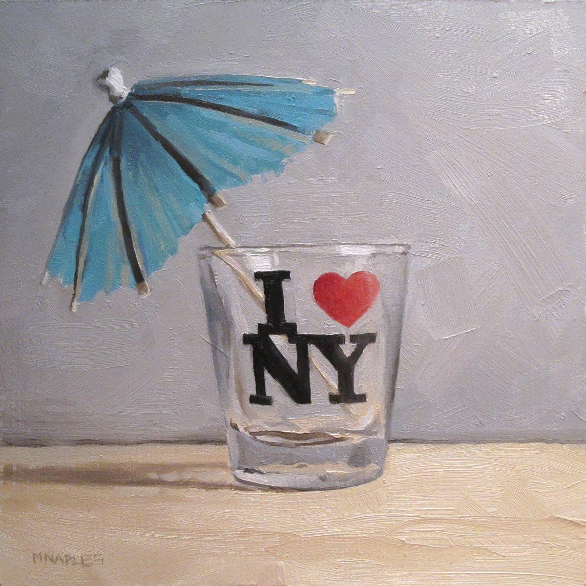 """""""I Heart NY"""" original fine art by Michael Naples"""