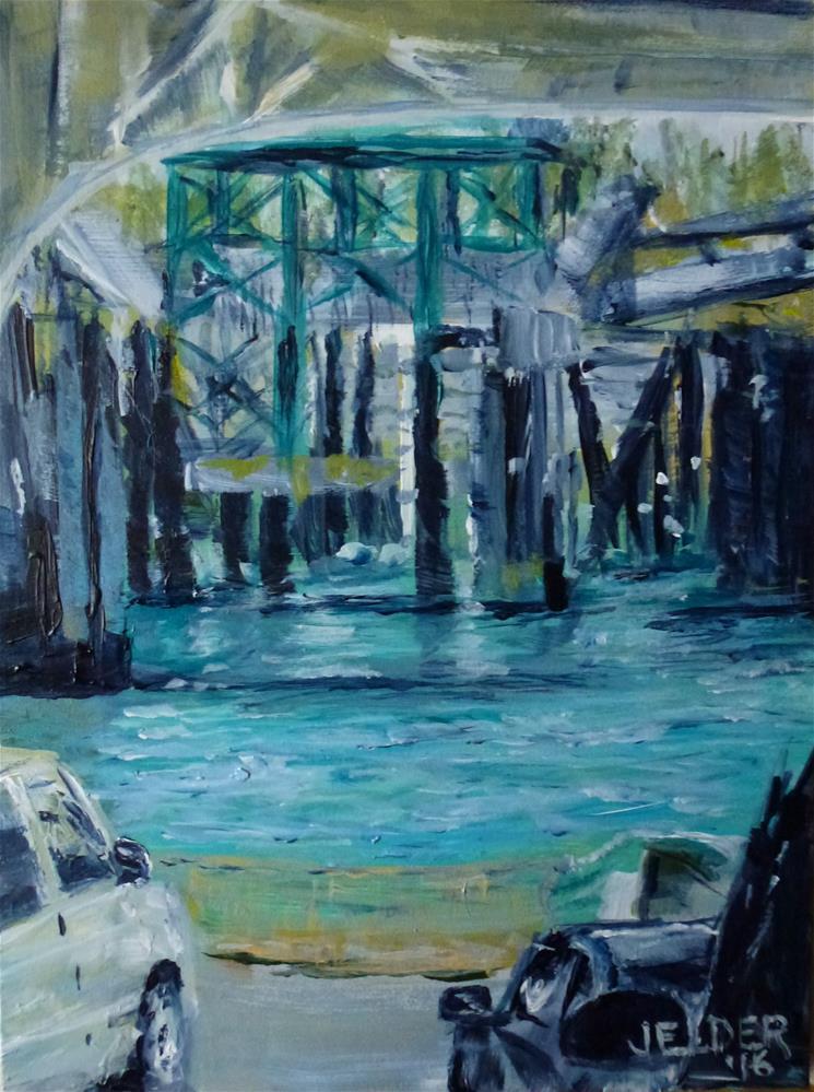 """Going to Orcas"" original fine art by Judith Elder"