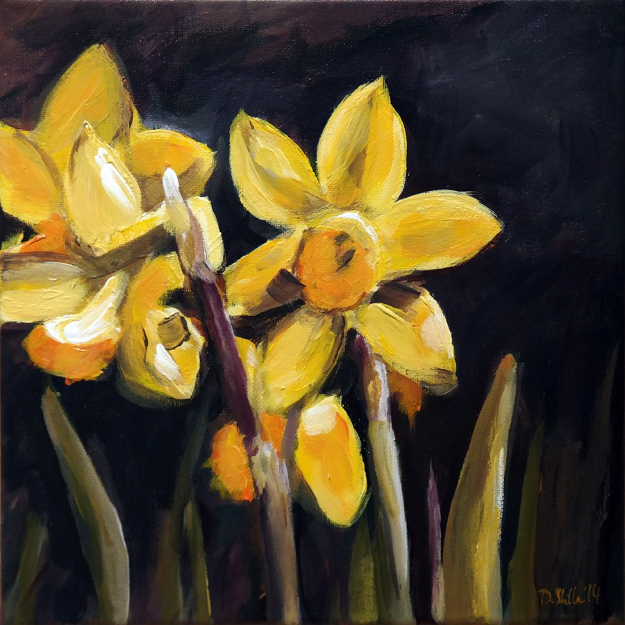 """0955 Daffodils"" original fine art by Dietmar Stiller"