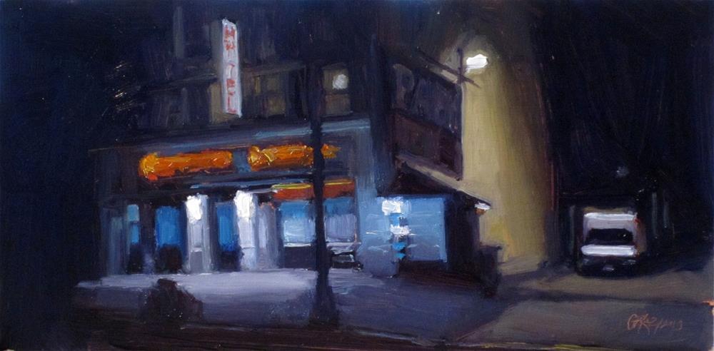 """""""Harlem nocturne"""" original fine art by Dan Graziano"""