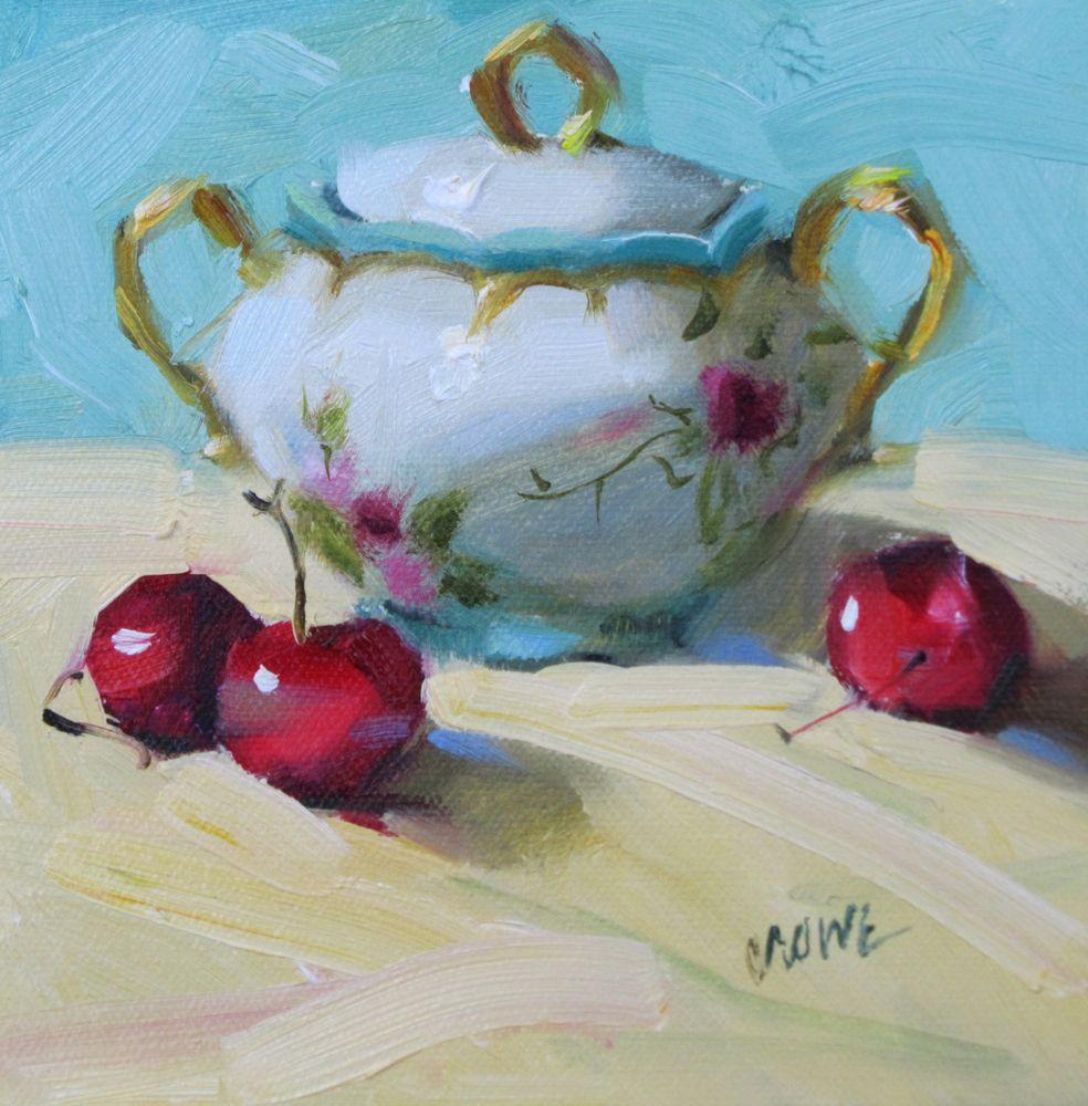 """Cherry Cherry"" original fine art by Judy Crowe"