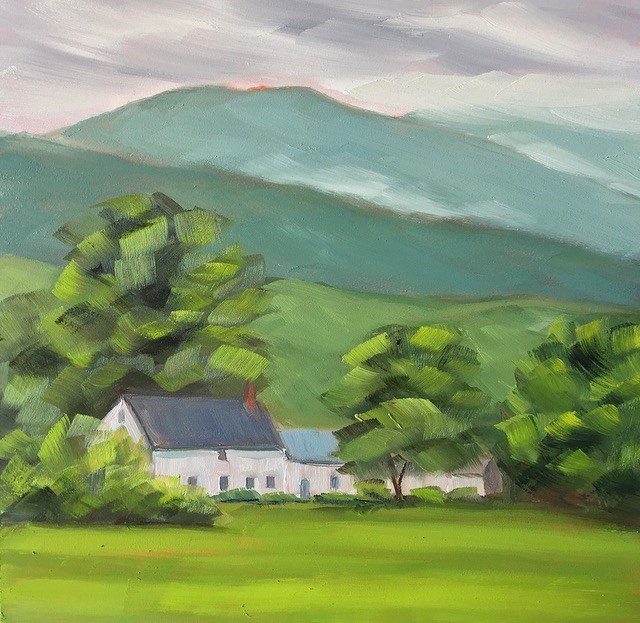 """#24 - Farmhouse - Morristown, VT"" original fine art by Sara Gray"