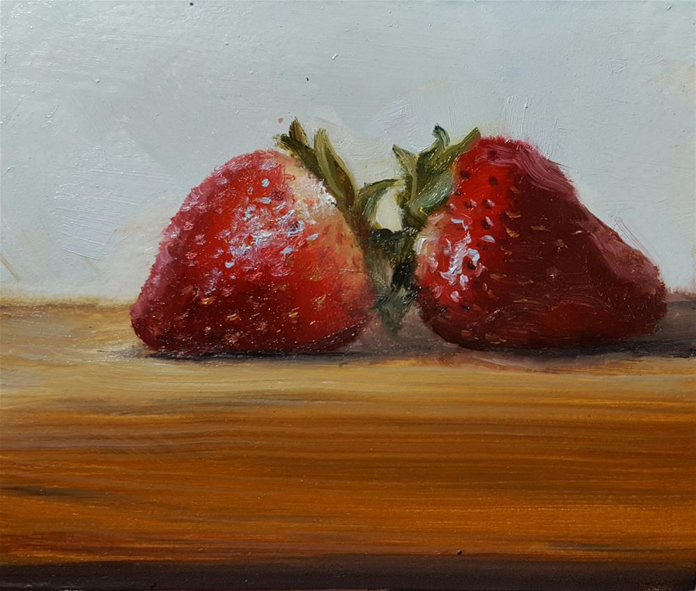 """Strawberries"" original fine art by Dustin Klassen"