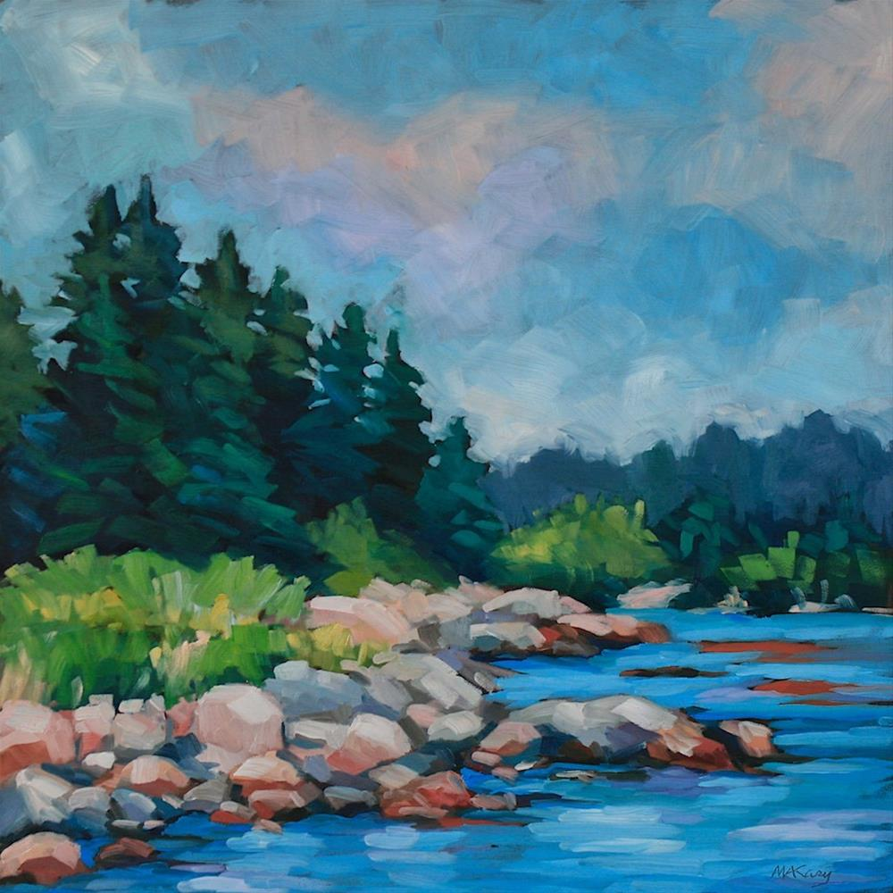 """""""Vinalhaven"""" original fine art by Mary Anne Cary"""