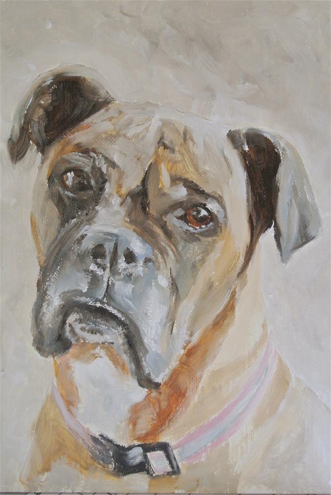 """Boxer Dog"" original fine art by James Coates"