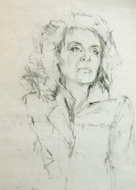 """Collar Up"" original fine art by Katie Wilson"