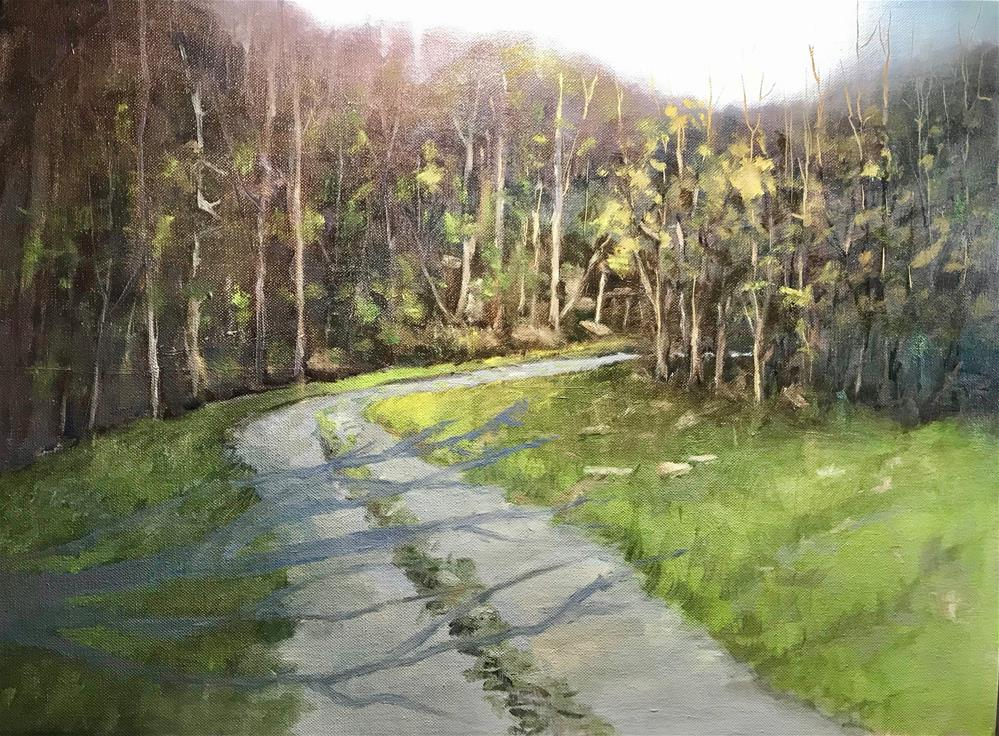 """back road"" original fine art by Betty Argiros"