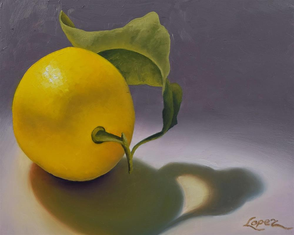 """#3 Lemon and Its Shadow"" original fine art by Gema Lopez"
