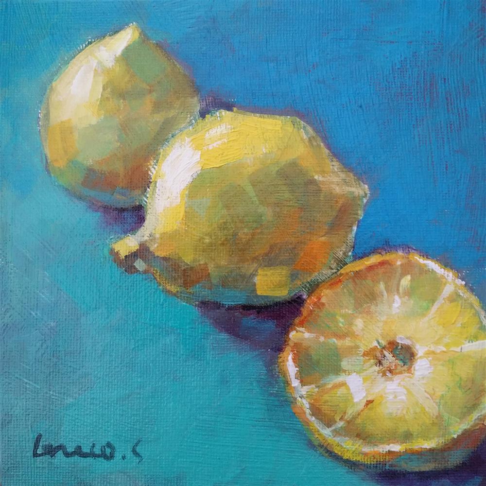 """lemons"" original fine art by salvatore greco"