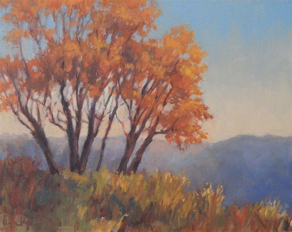"""Early Autumn Mists"" original fine art by Lisa Kyle"