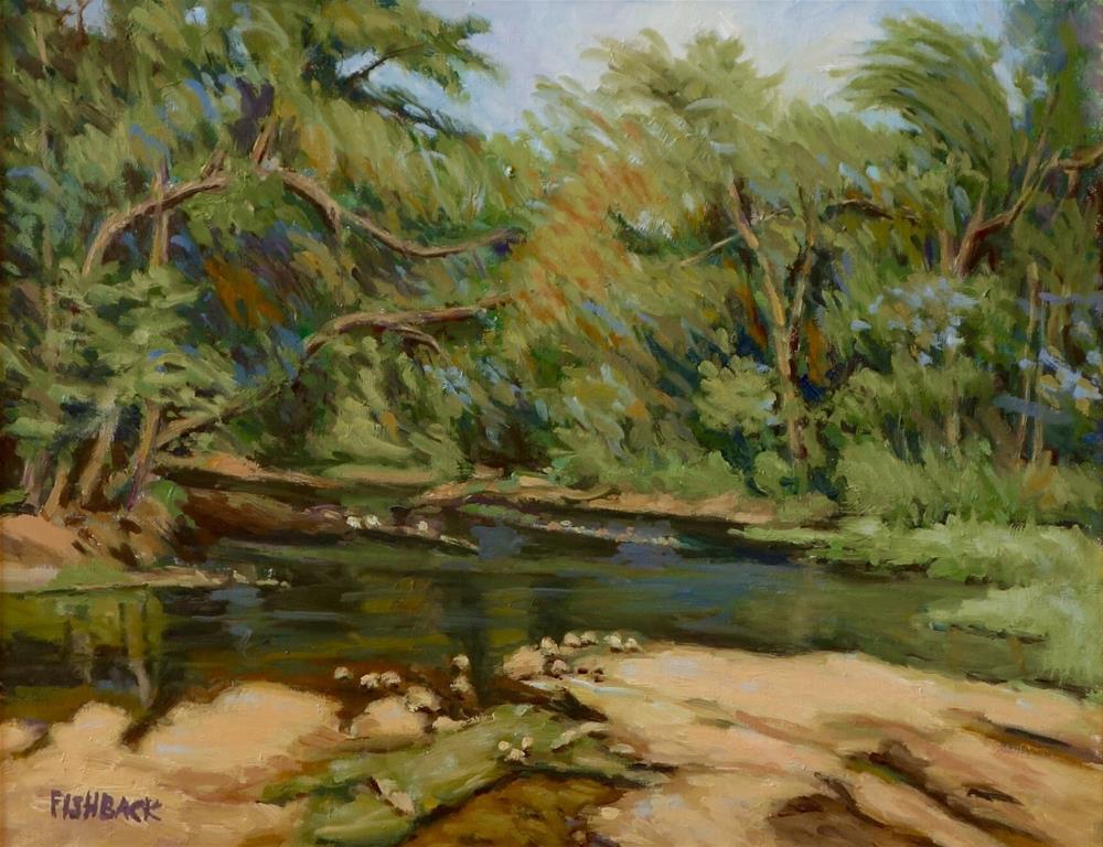 """Meramec at Woodson K. Woods"" original fine art by Daniel Fishback"