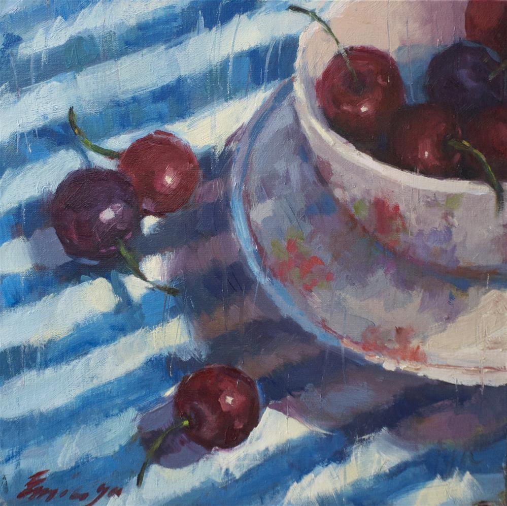 """Winter Cherries"" original fine art by Emiliya Lane"