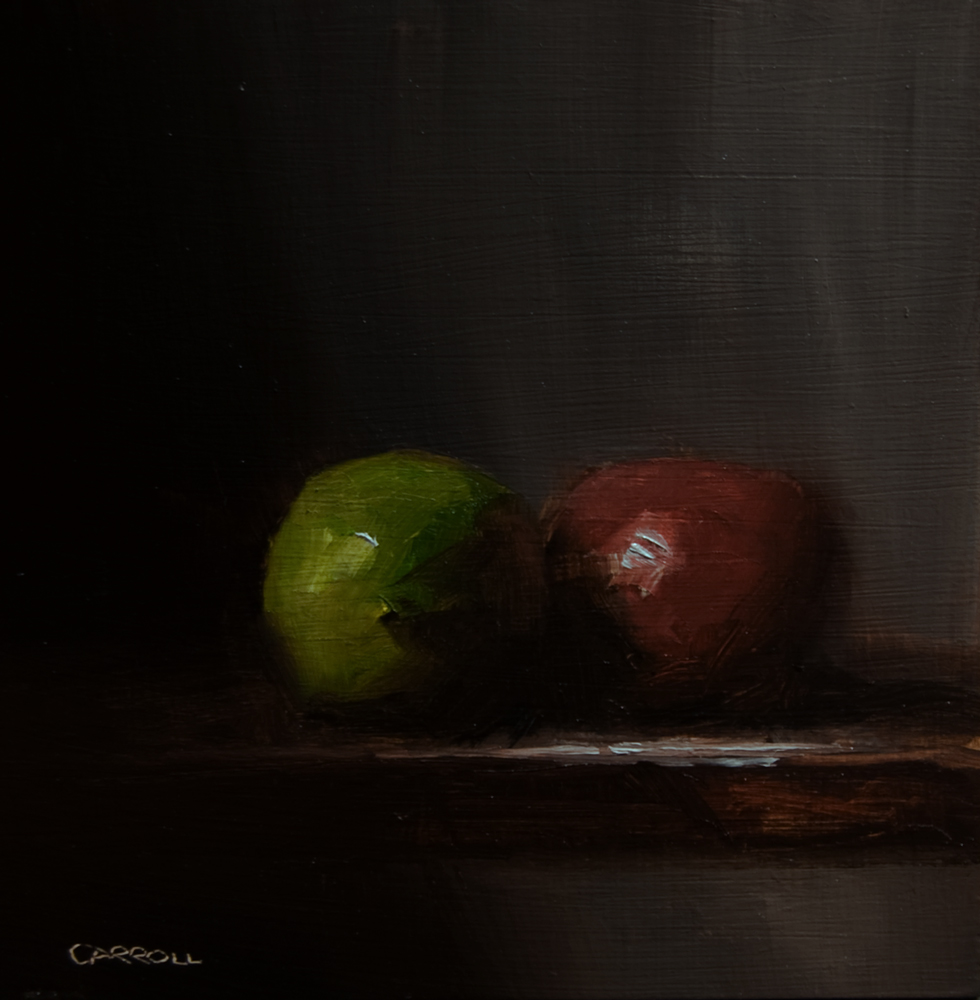 """""""Green with Red"""" original fine art by Neil Carroll"""