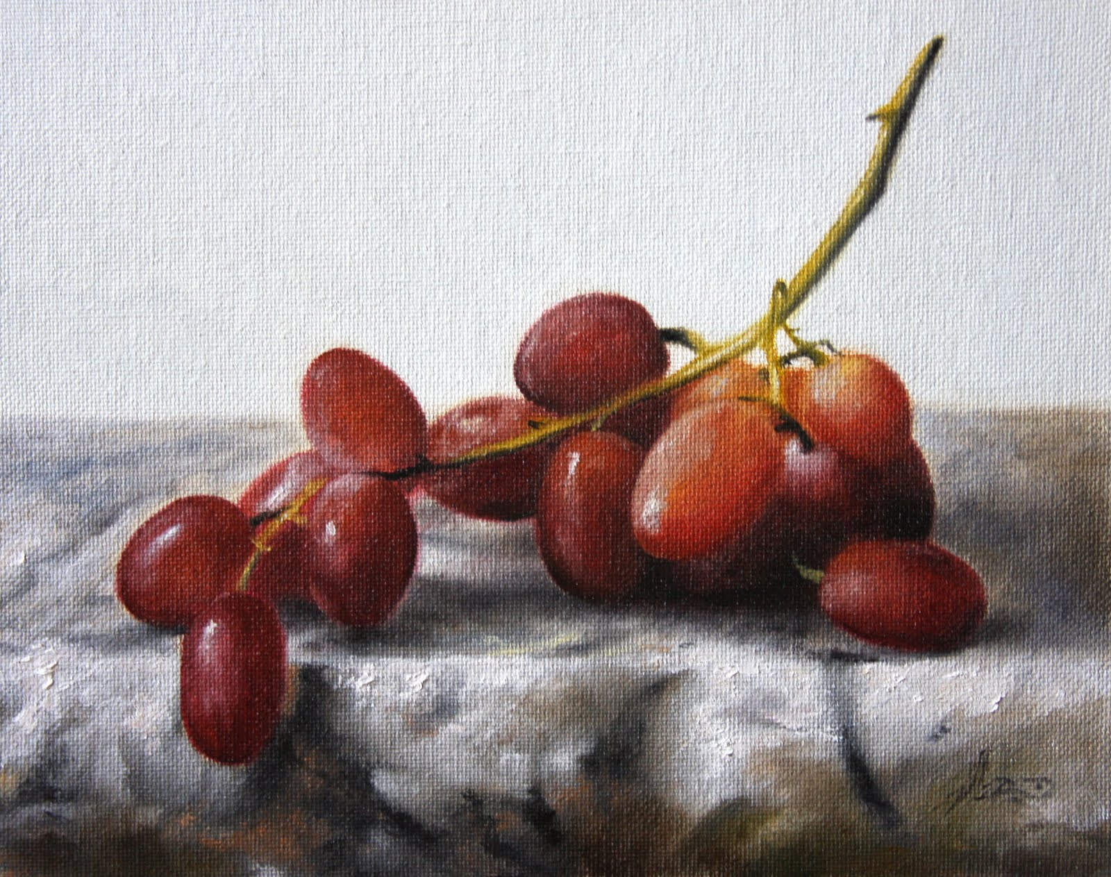 """Red Grapes"" original fine art by Jonathan Aller"