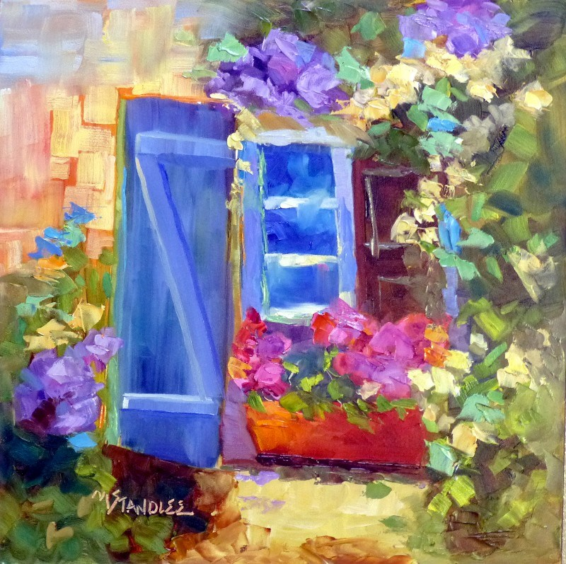"""French Window 13053 SOLD"" original fine art by Nancy Standlee"