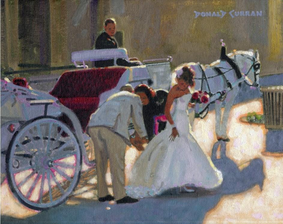 """Here Comes the Bride"" original fine art by Donald Curran"