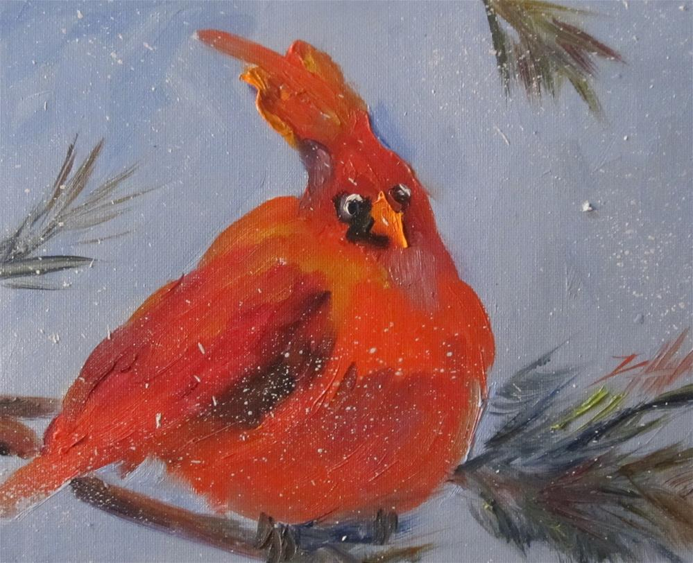 """Chubby Cardinal"" original fine art by Delilah Smith"