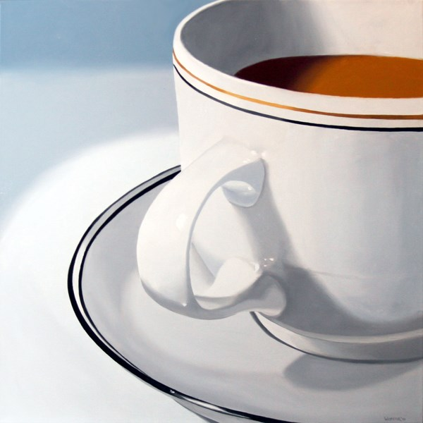 """Mark Webster - Large Coffee Cup Still Life Oil Painting"" original fine art by Mark Webster"