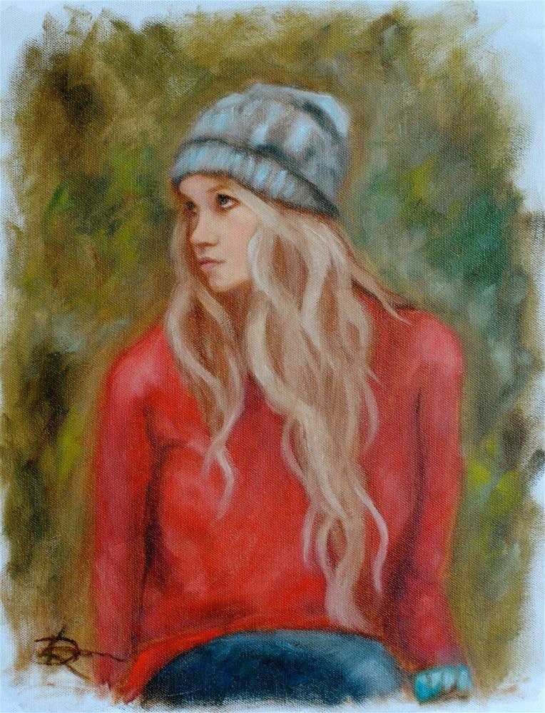 """""""Angel in Autumn"""" original fine art by Kelly Berkey"""
