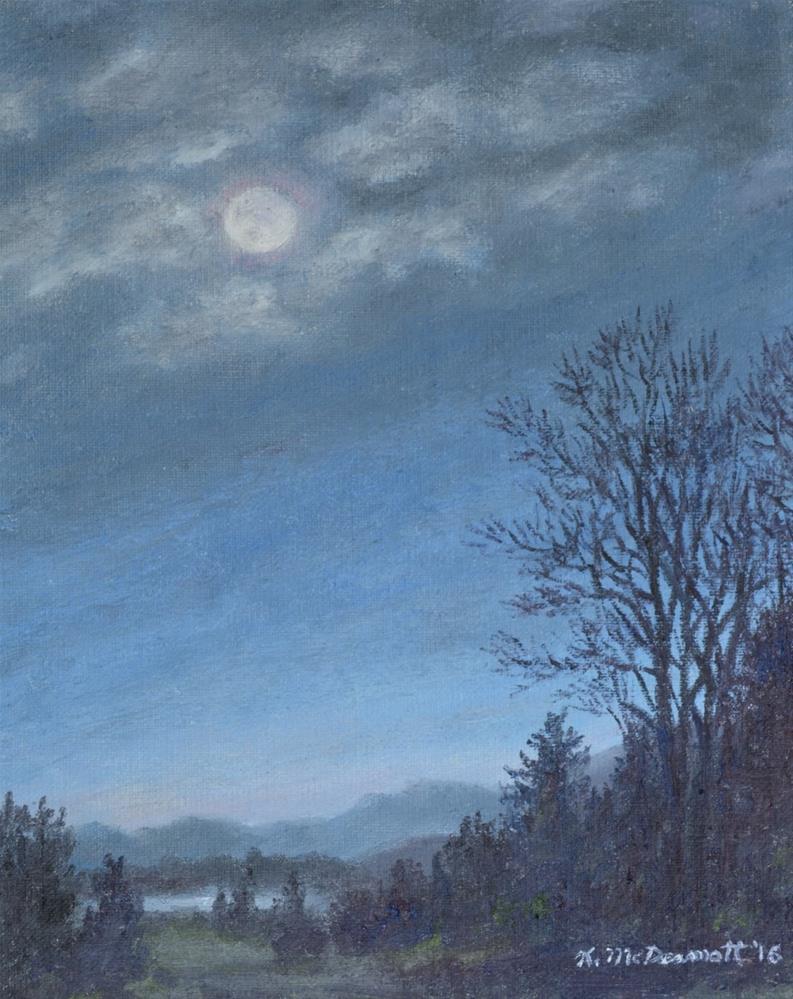 """""""Nocturne in Blue # 2 (C) 2016 by K. McDermott"""" original fine art by Kathleen McDermott"""