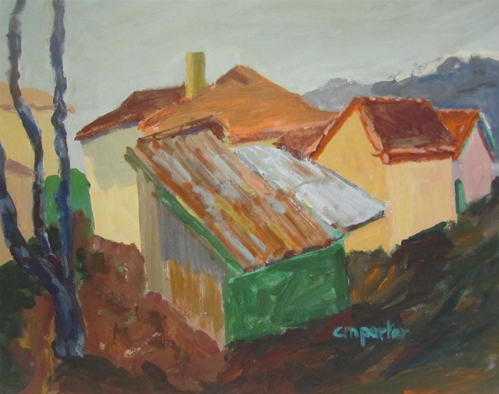 """Small Town Bulgaria"" original fine art by Christine Parker"
