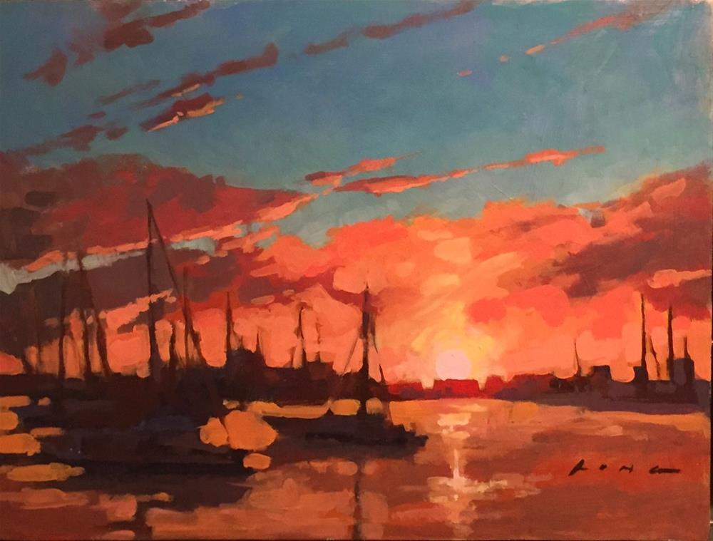 """Florida II"" original fine art by Chris Long"