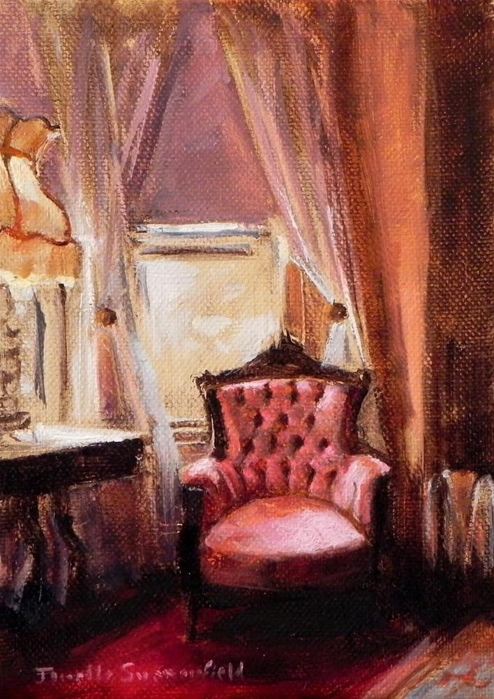"""Pink Chair"" original fine art by Jonelle Summerfield"