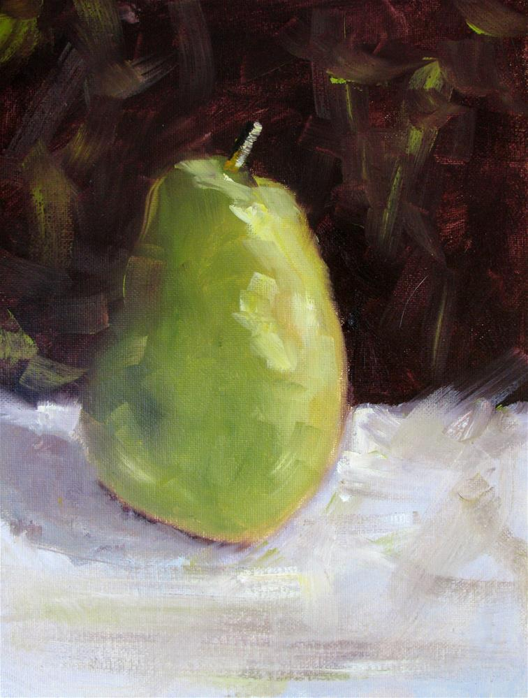 """Pear"" original fine art by Susan Elizabeth Jones"