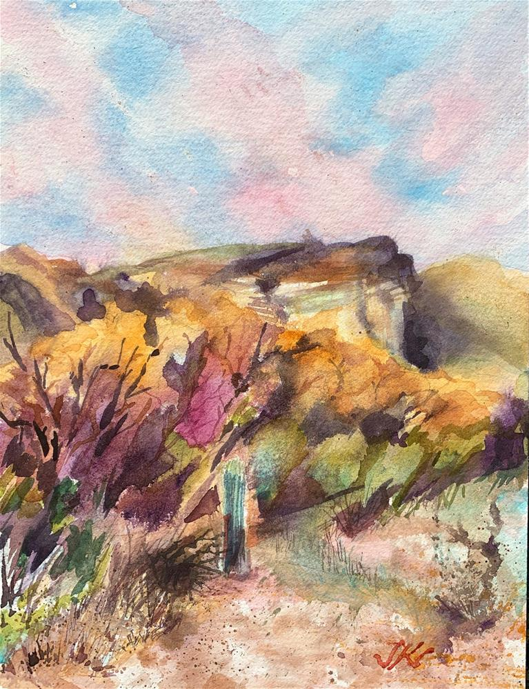 """Tonto National Forest, Arizona"" original fine art by Jean Krueger"