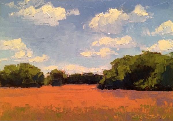 """Ripe Wheat, Summer"" original fine art by Mary Gilkerson"