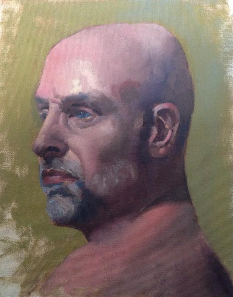 """""""Rob"""" original fine art by Catherine Clancy"""