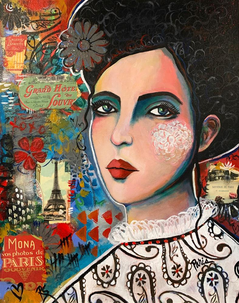 """La Belle Femme de Paris"" original fine art by Roberta Schmidt ArtcyLucy"