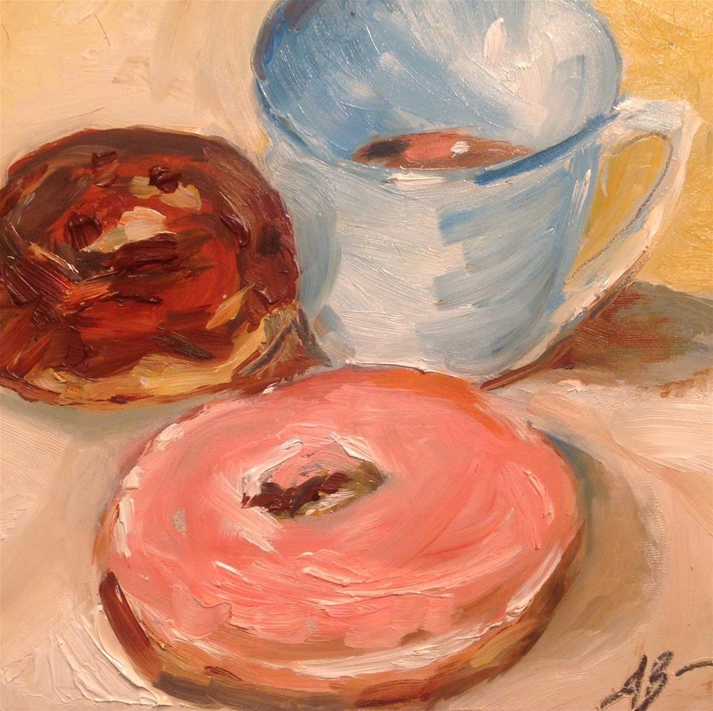 """Refill of coffee needed"" original fine art by Annette Balesteri"