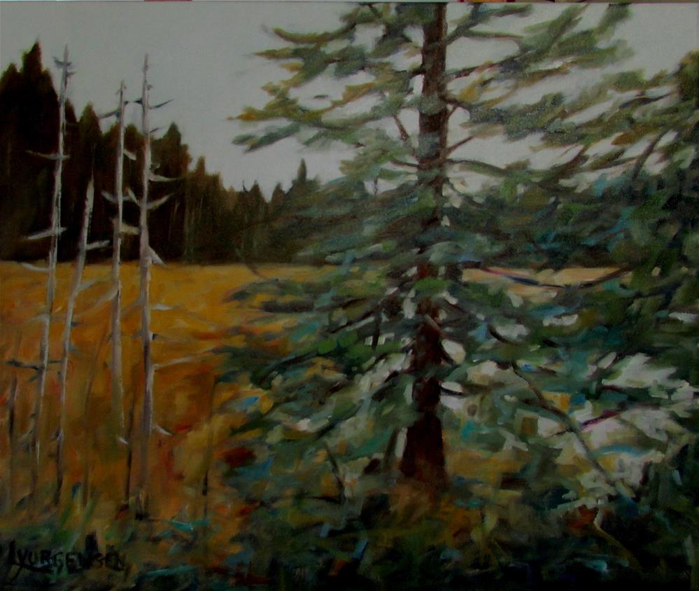 """20 x 24 inch oil Chemainus Lake"" original fine art by Linda Yurgensen"