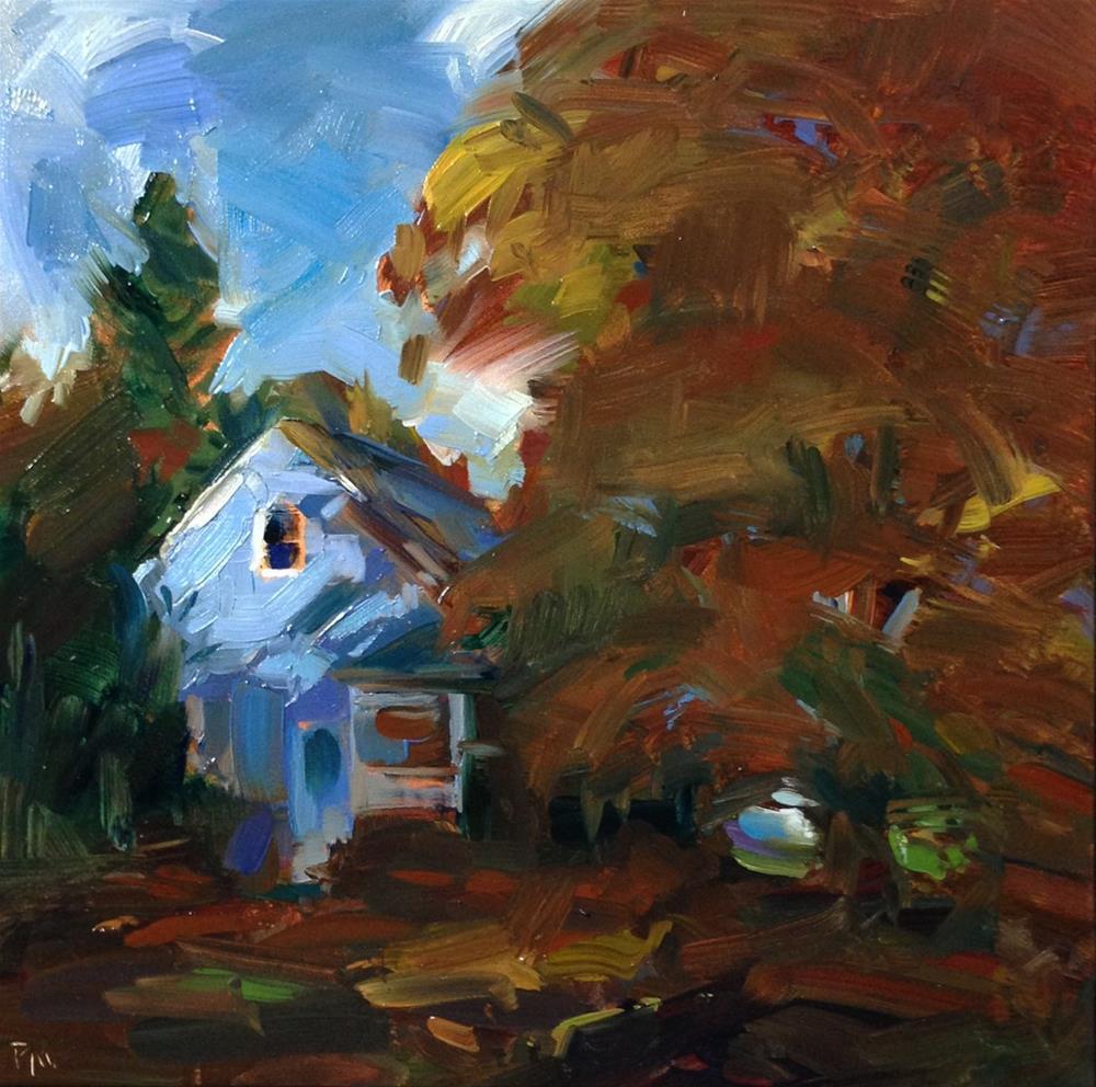 """Cozy Toes"" original fine art by Patti McNutt"
