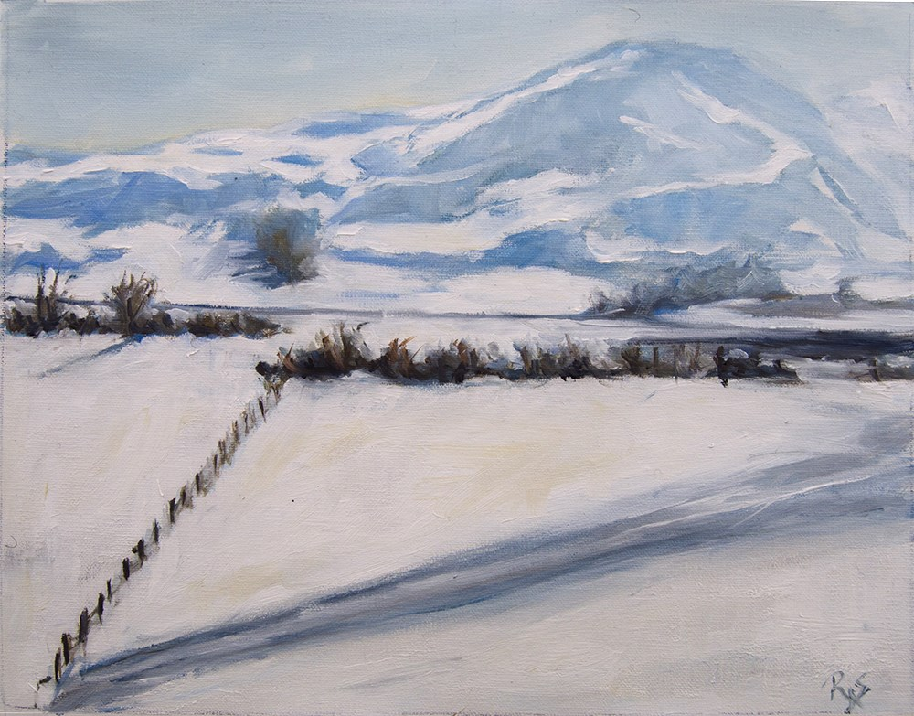 """Snow Mountain View"" original fine art by Rachel Steely"