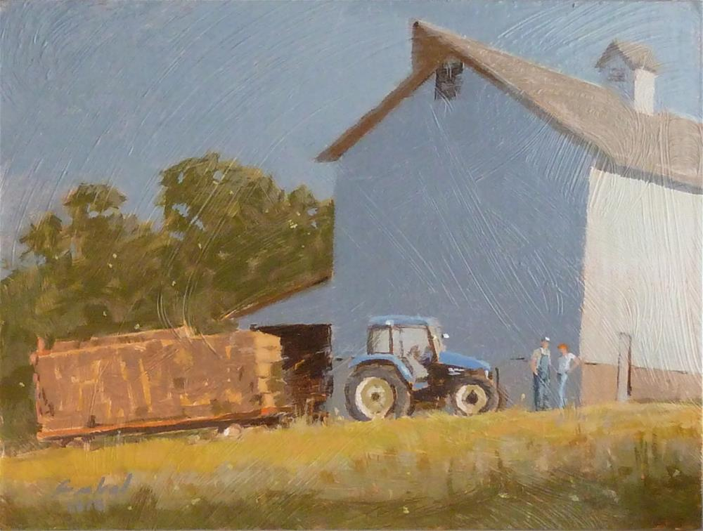 """Last Wagon Load"" original fine art by Ron Ferkol"