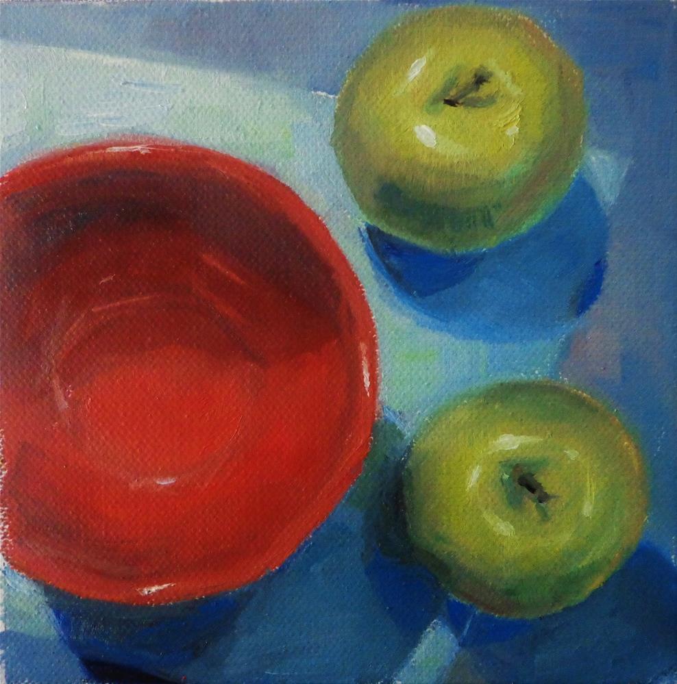 """Green apples"" original fine art by Maria Z."