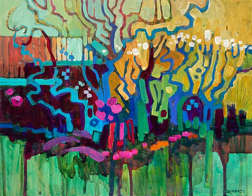 """Almonds in Bloom"" original fine art by Nancy Roberts"