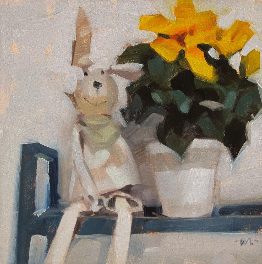 """""""Der Hase (The Rabbit)"""" original fine art by Carol Marine"""