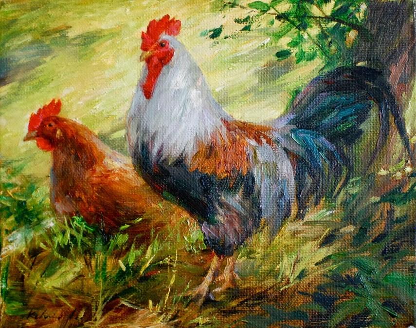 """""""In the Shade"""" original fine art by Kelvin Lei"""