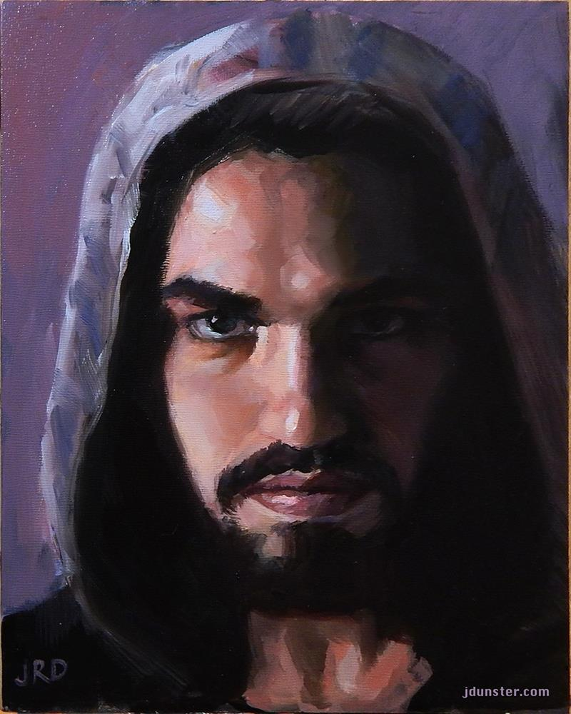 """Hooded Man [Studio Clearance Sale]"" original fine art by J. Dunster"
