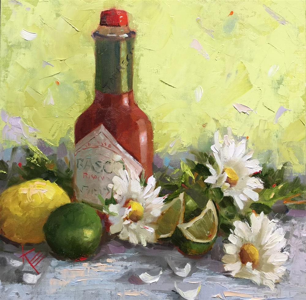 """Tabasco & Daisies"" original fine art by Krista Eaton"