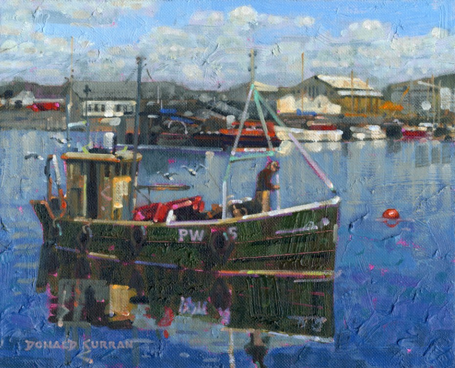 """Irish Fishing Boat"" original fine art by Donald Curran"