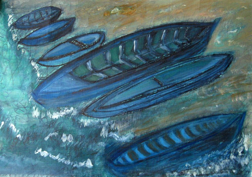"""On The Shore"" original fine art by Alina Frent"