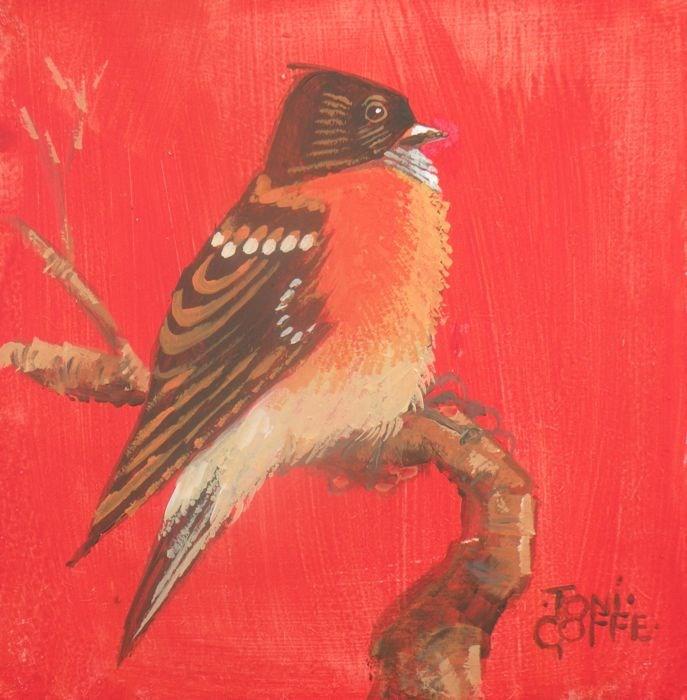 """Brambling"" original fine art by Toni Goffe"