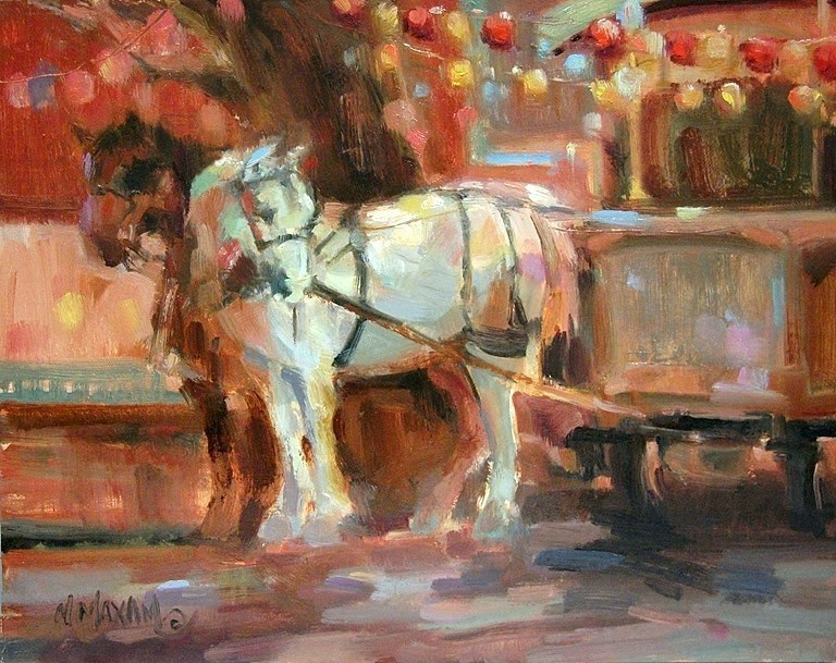 """Horse & Cart"" original fine art by Mary Maxam"