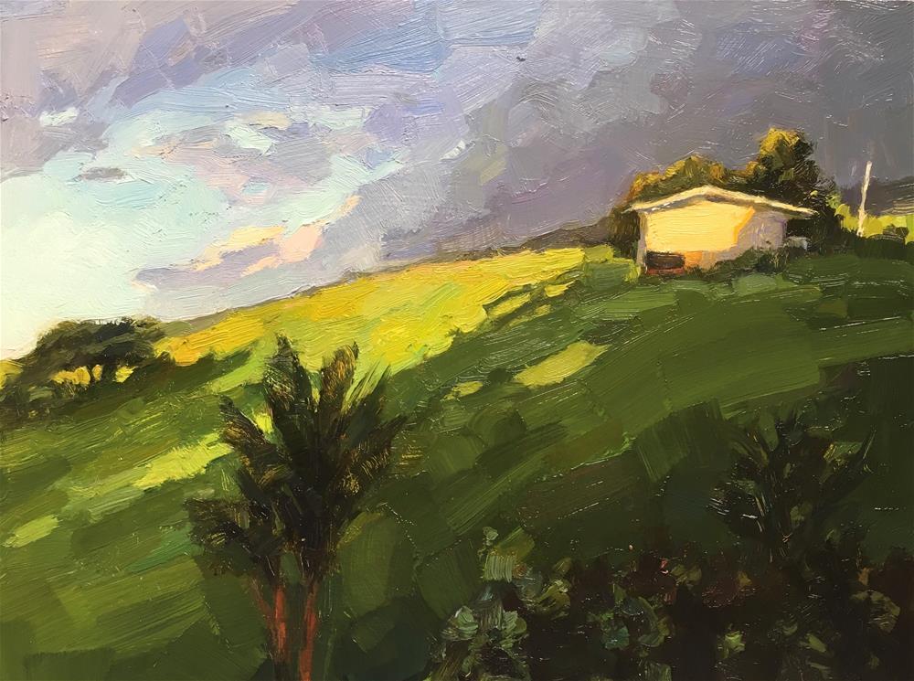 """Hana.maui#22 (Koali Ranch Cottage)"" original fine art by Katya Minkina"