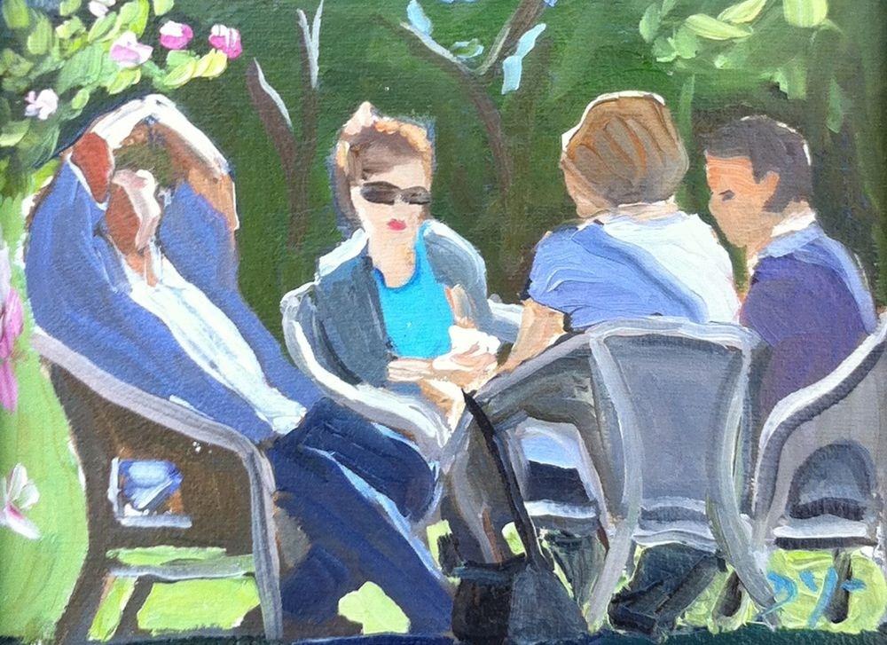 """Meet the Parents"" original fine art by Darlene Young"