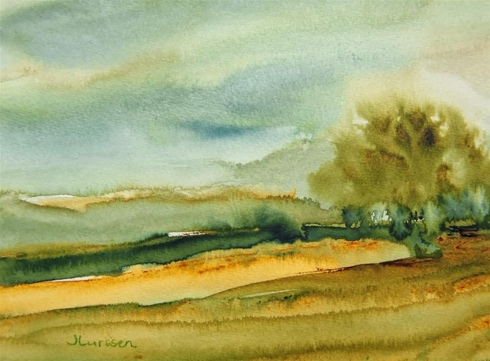 """Green Pastures"" original fine art by Jean Lurssen"